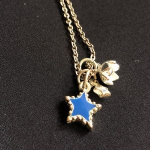 Express necklace with star and flower pendants